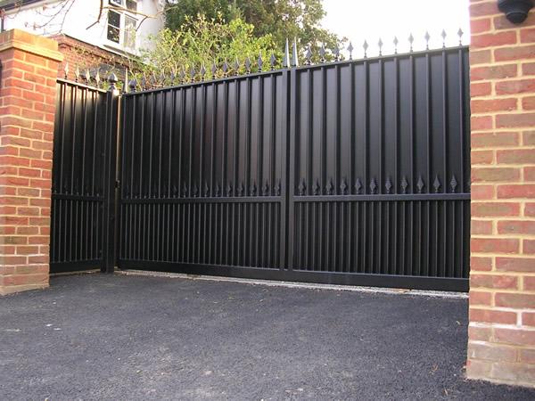 Sliding gate security gates
